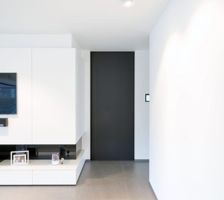 Astounding Interior Doors Modern Design Of Black With Black Minimalist Door Frame And