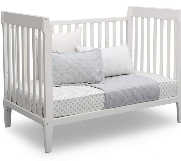 Astounding Mid Century Modern Baby Crib Of Serta Classic 5 In 1 Convertible Crib, Grey Delta