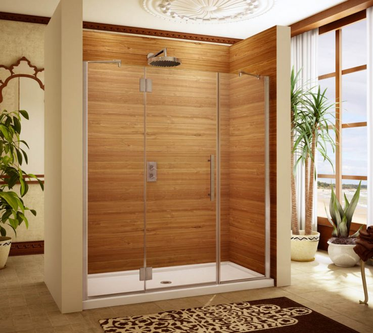 Astounding Wood Shower Door Of Example · Semi Frameless Example. Semi