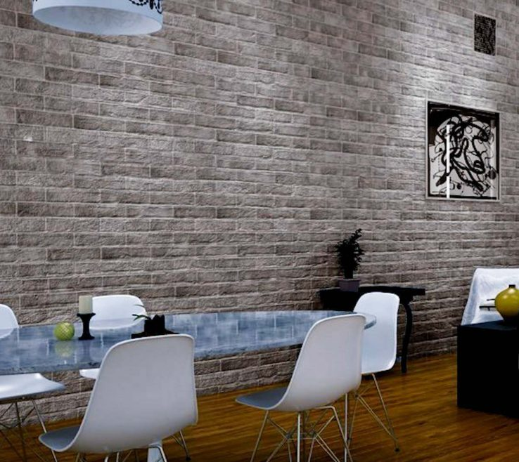 Attractive Interior Brick Wall Tiles Of Muralla Grey Tile Roomset