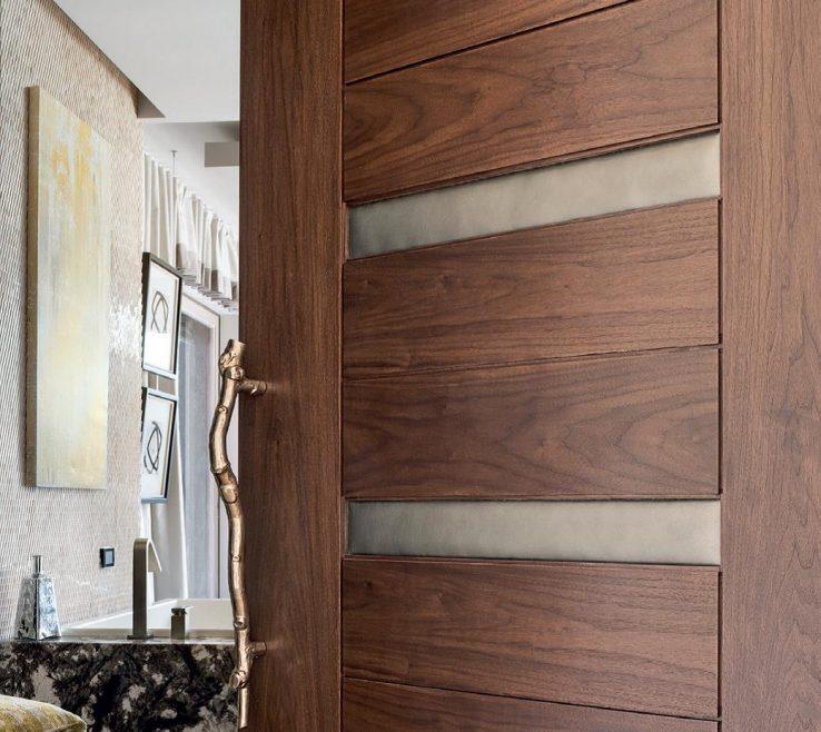 Attractive Interior Doors Modern Design Of Door With Edleman Leather Incerts. Tile