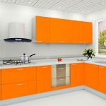 Attractive Orange Kitchen S Of Opulent Design Ideas Modren White Country Pictures