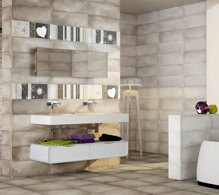 Awesome Bathroom Floor Tiles Designs Of Wall And Design Ideas
