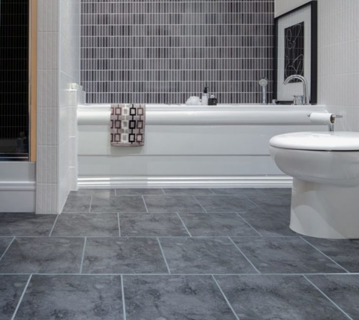 Bathroom Floor Tiles Designs Of Grey Mosaic Wall And
