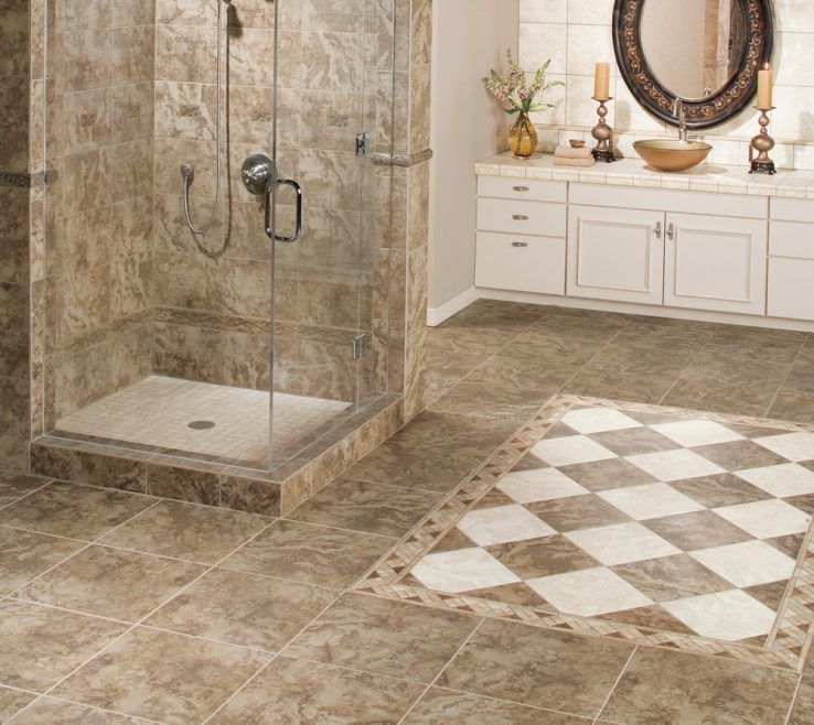 Bathroom Floor Tiles Designs Of Mohawk Pavin Stone