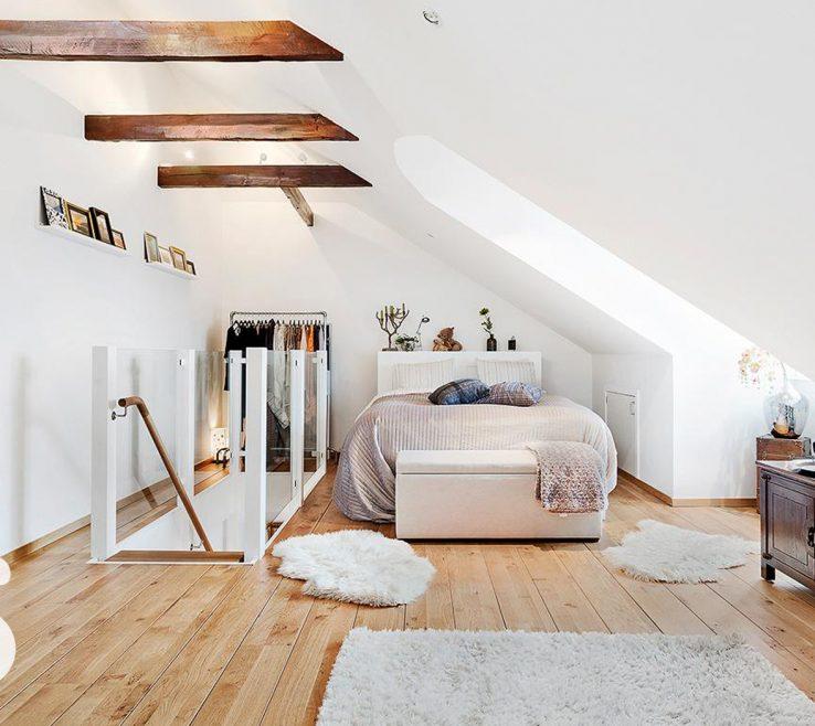 Beautiful Attic Bedroom Ideas Of Scandinavian Bedroom. Via Inspiration