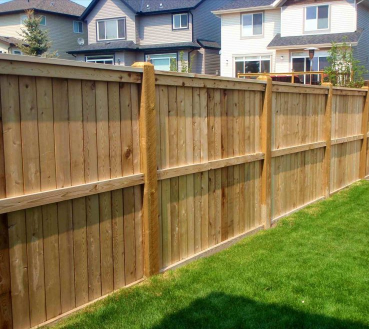 Beautiful Attractive Fences Of Brick Patterned Wall Coupled With Wood Fence