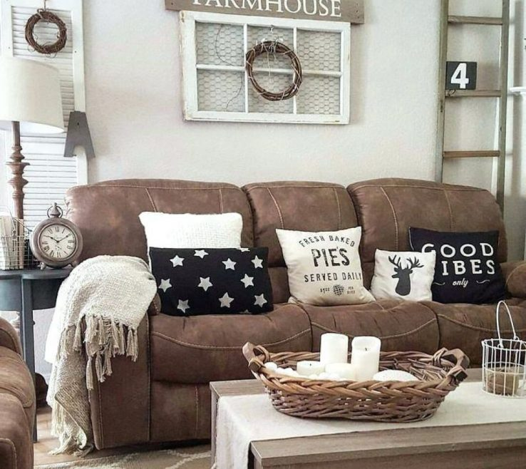 Beautiful Brown Decor Of Nice Couch Decorating Ideas Living Room