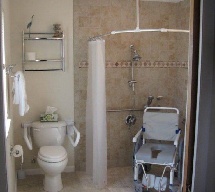 Beautiful Handicap Bathroom Design Of | Bathrooms | Handicsuperbed Dimensions