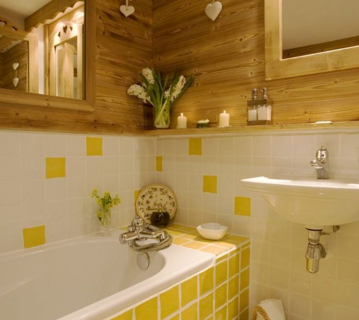 Beautiful Yellow Bathrooms Of Gray And Bathroom Decoration Furniture | Powerful