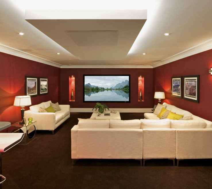 Brilliant Ideas For Theater Room Of Decorating A Large Wall In Living Lovely