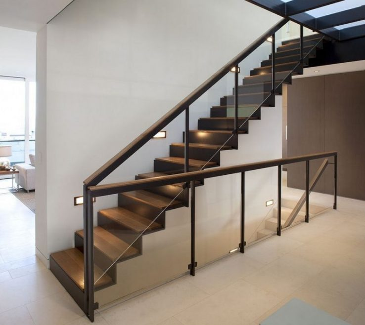 Brilliant Indoor Stair Railing Pictures And Ideas Of Image Of: Glass Design
