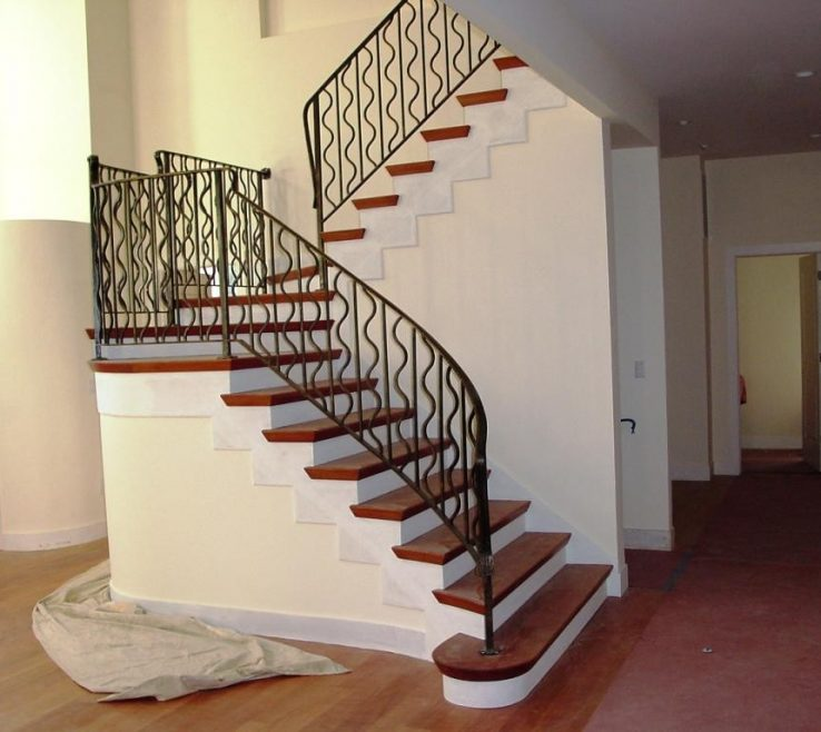 Brilliant Indoor Stair Railing Pictures And Ideas Of Image Of: Good Metal Railings