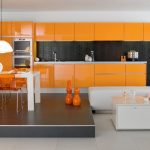 Brilliant Orange Kitchen S Of Image Of: Modern Ikea Backsplash