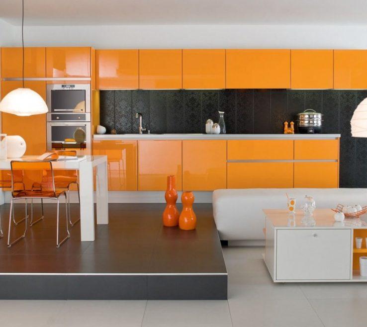 Brilliant Orange Kitchen S Of Image Of Modern Ikea Backsplash