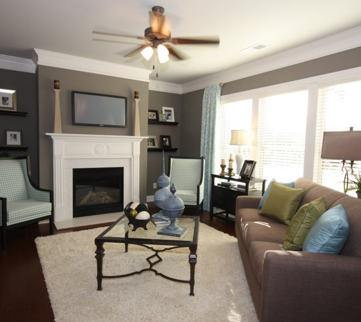 Brilliant Room Color Inspiration Of Blue, Brown, Grey Scheme In The Family