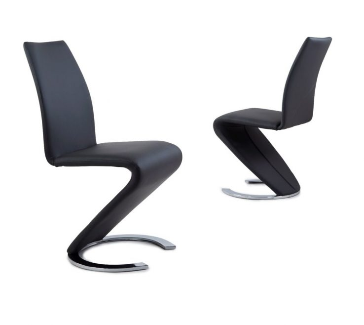 Brilliant Stylish Dining Chairs Of Luciano Z Chair Chrome Horse Shoe Base