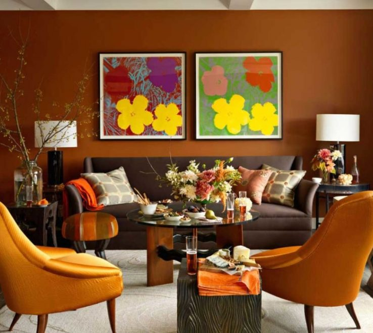 Burnt Orange And Brown Living Room Ideas Of Large Images Of Decorating For Blue