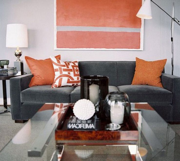 Burnt Orange And Brown Living Room Ideas Of Medium Images Of White