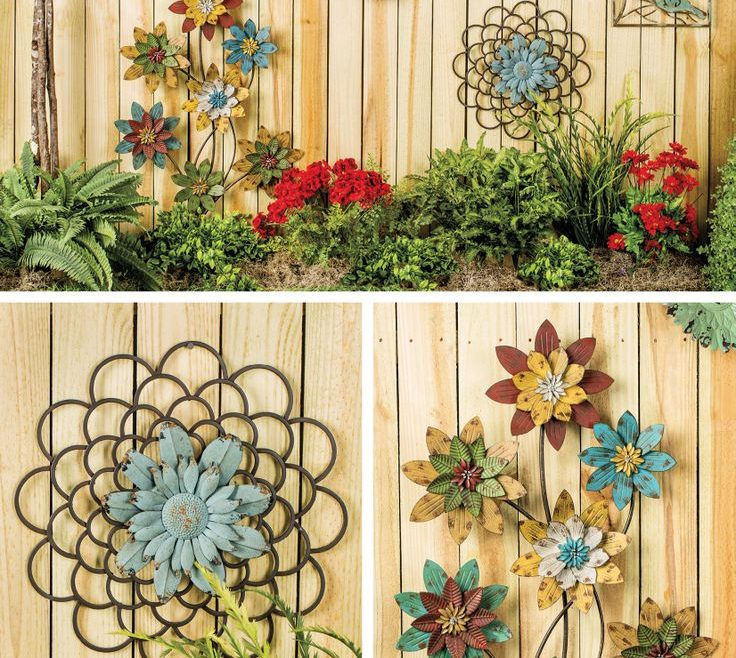 Captivating Homemade Garden Decorations Of Sweet Ideas Outside Wall Art About