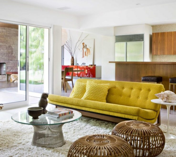Captivating Mid Century Modern Interiors Of Living Room