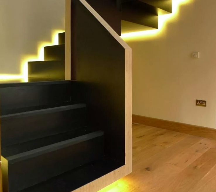 Captivating Modern Staircase Lighting Of Design Ideas