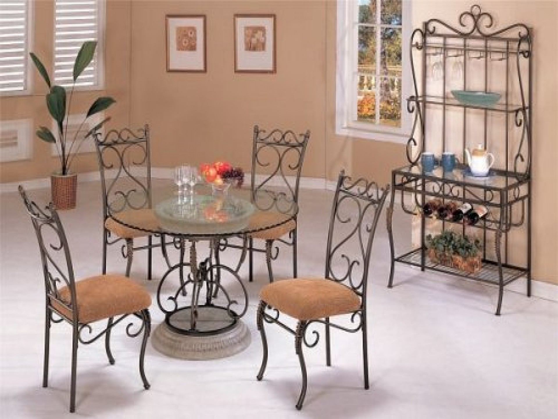 captivating rod iron furniture design of wrought dining