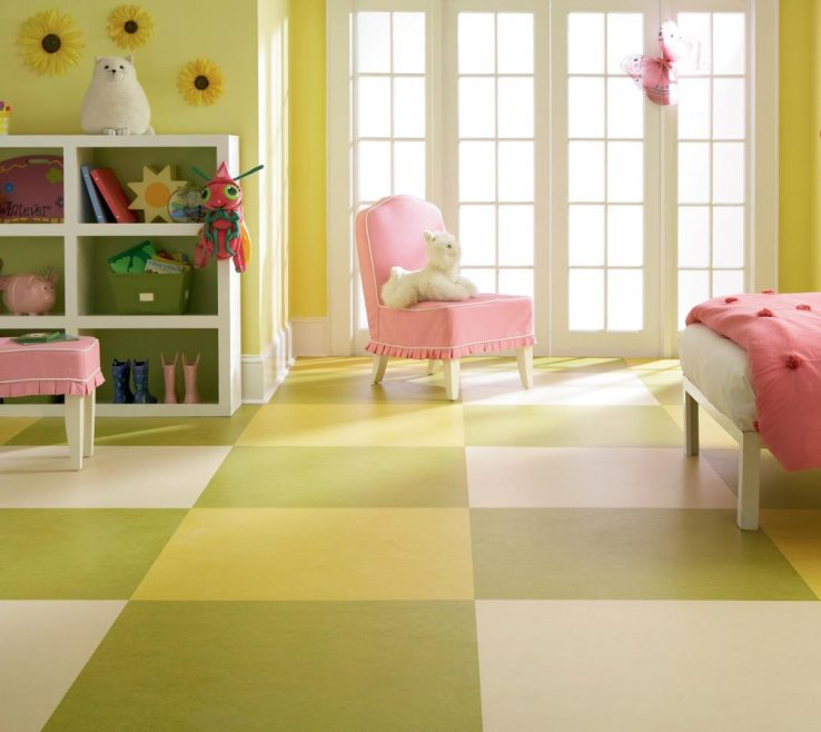 Charming Green Flooring Materials Of Kid Friendly