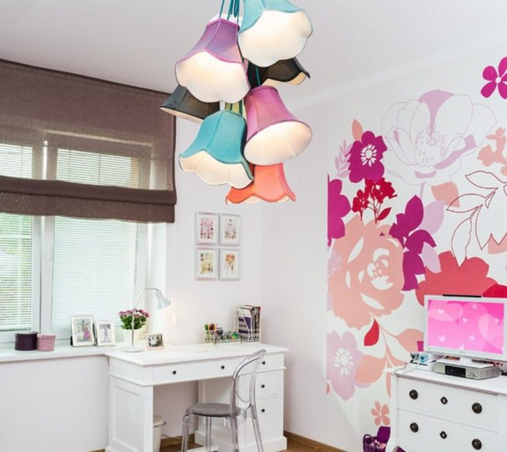 Charming Modern Kids Lighting Of Diy Chandelier With Colorful Shade Of Lights