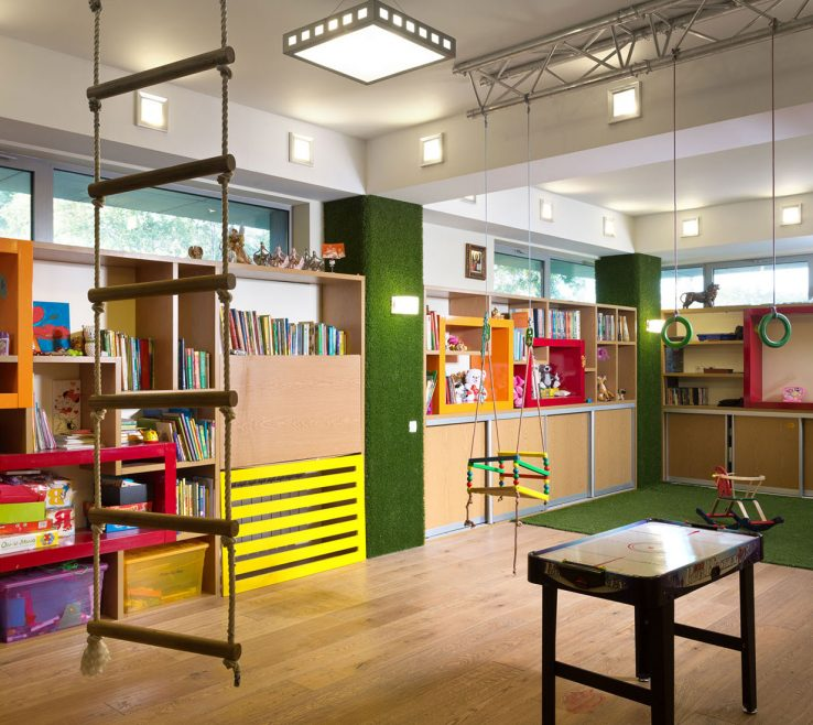 Charming Modern Kids Storage Of Playroom As Well As Ic Wall