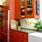 Charming Orange Kitchen S Of Burnt Rapflava Design Decorating Fresh Furniture Tile