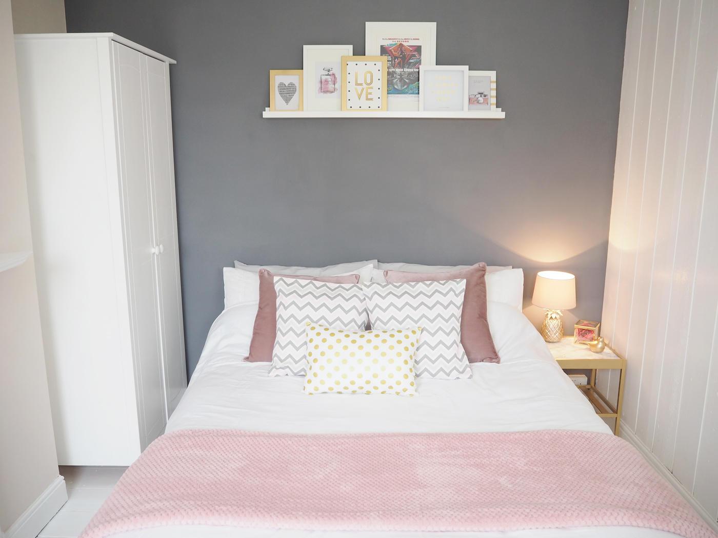 Pink Gray Bedroom - ACNN DECOR