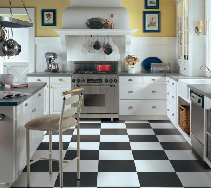 Charming Tile Floor Designs For Kitchens Of Vinyl Flooring In The Kitchen