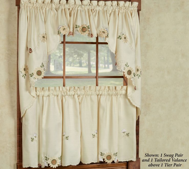 Charming Ual Window Treatments Of Kitchen Curtains And Valances Creative Curtain Ideas