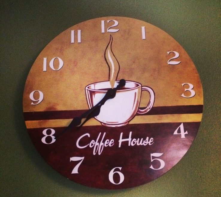 Coffee Themed Wall Decor Of Bination Of Brown And Red Color