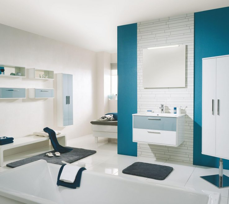 Contemporary Interior Paint Colors Of Add Blue Inside White Bathroom With Floating