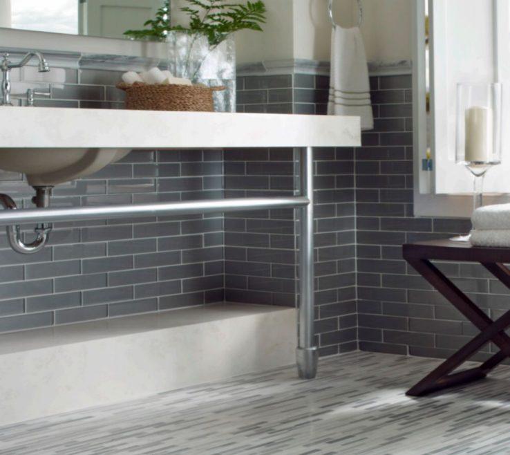 Cool Glass Floor Tile Bathroom