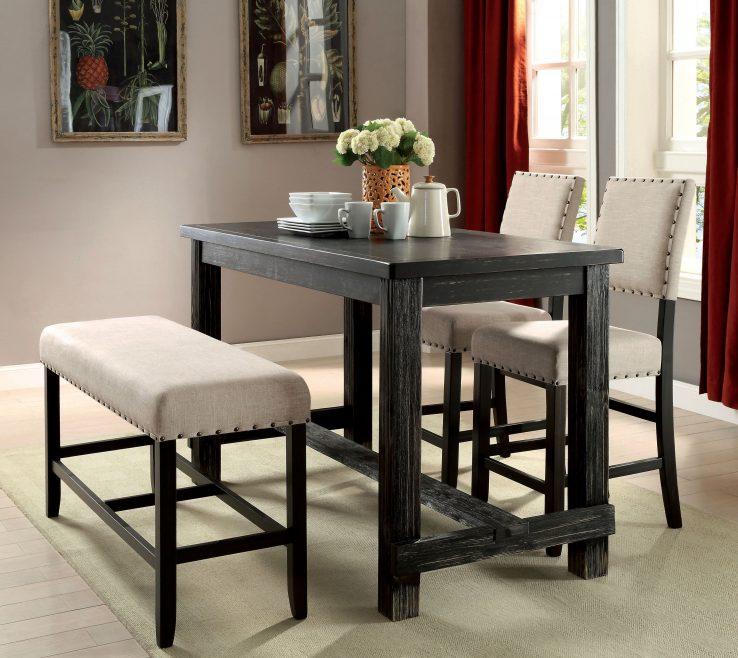 Dining Room Tables Contemporary Design Of Shop Furniture Of America Telara Antique Black