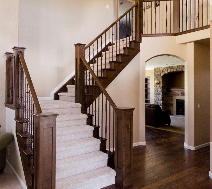 Elegant Indoor Stair Railing Pictures And Ideas Of Image Of: Modern Interior Staircase