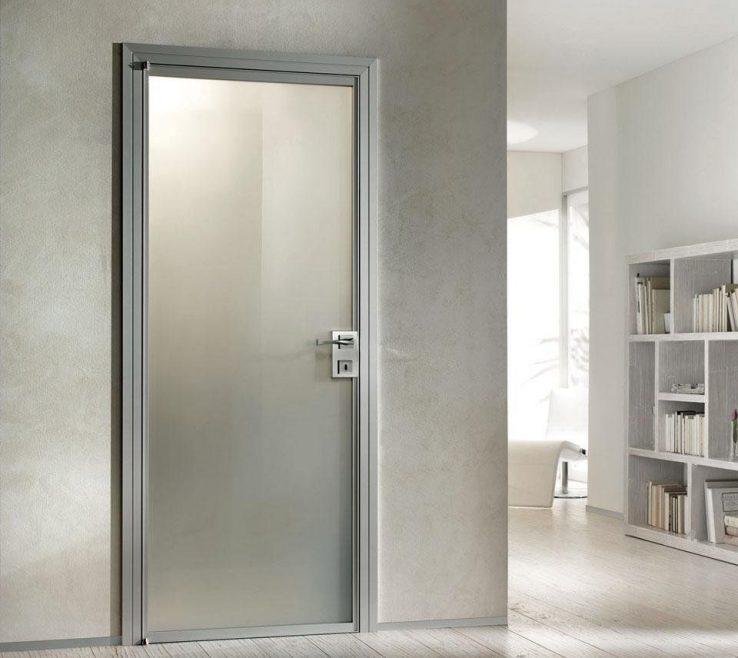Elegant Interior Doors Modern Design Of Home With Thin Aluminium Door