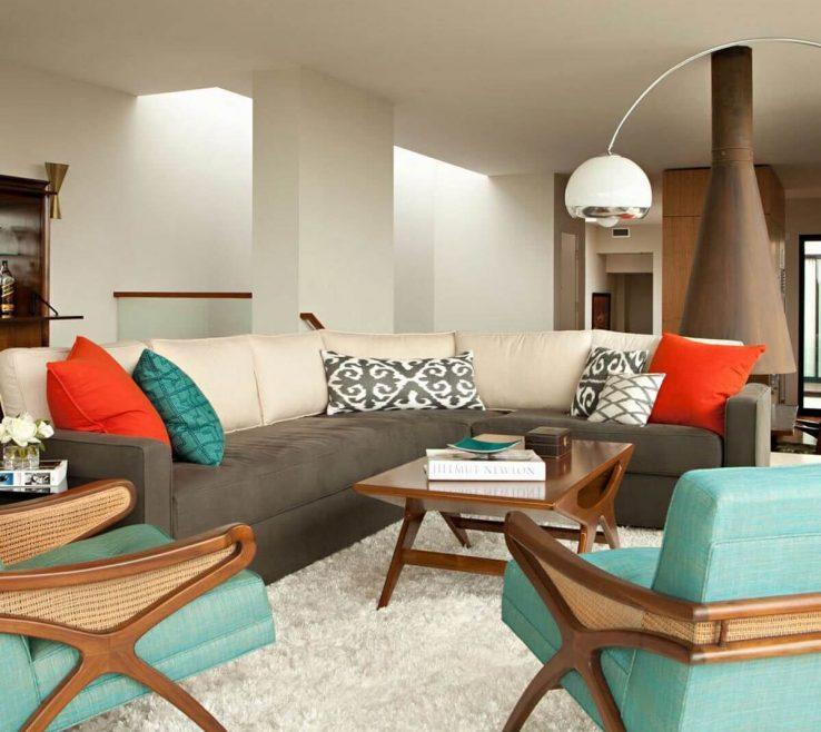Elegant Mid Century Modern Interiors Of Mid Century Living Room