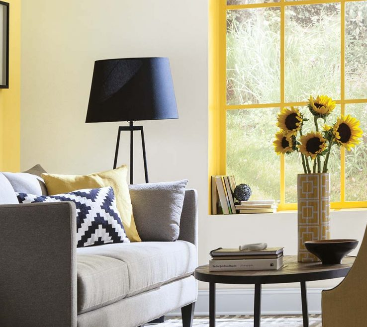 Elegant Room Color Inspiration Of Living Yellows
