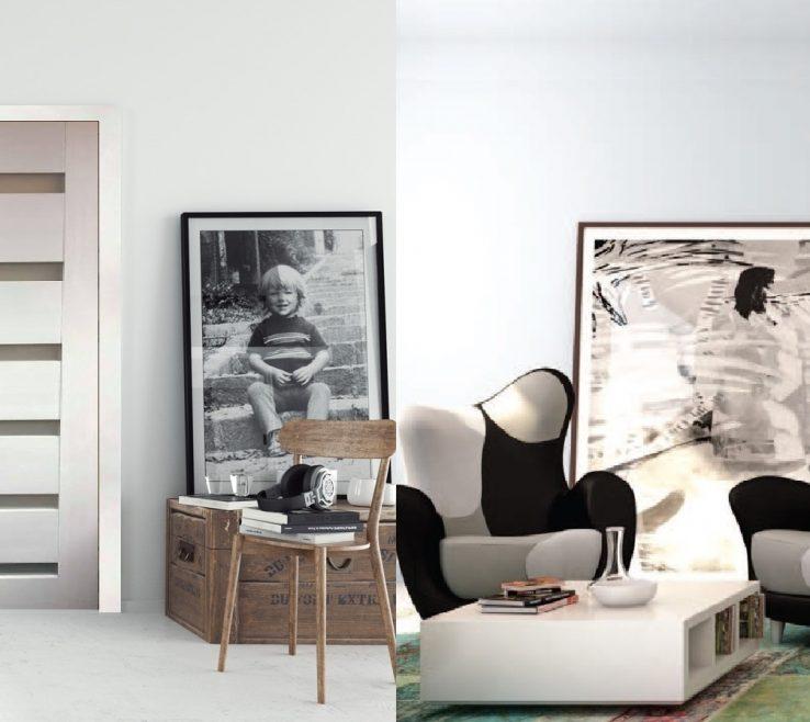 "Enchanting Interior Doors Modern Design Of ""madrid"" Black Ebony Door With Aluminum Strips"