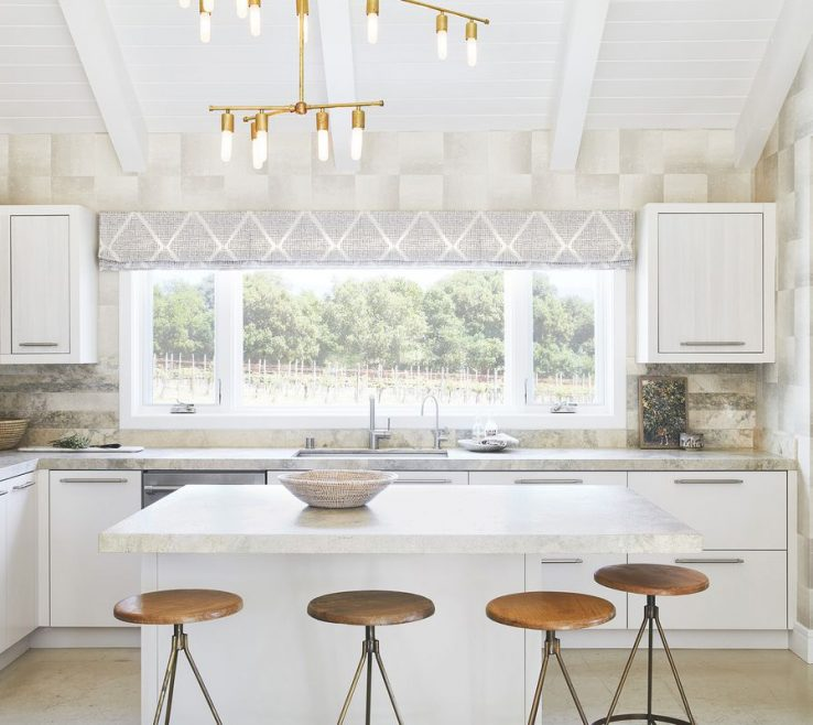 Enchanting Kitchen Island Alternatives Of An All White Anchors The Of This California