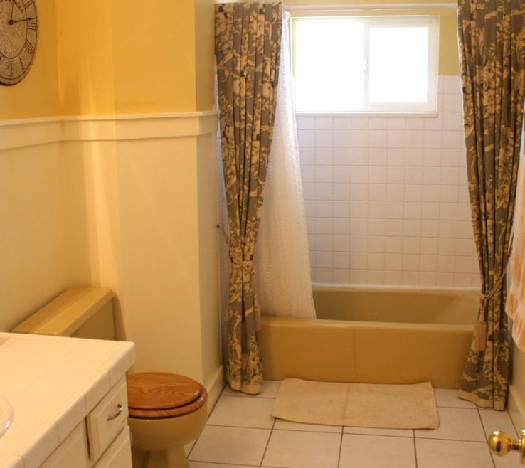 Enchanting Yellow Bathrooms Of Mustard Tub And Toilet Updated Bathroom |