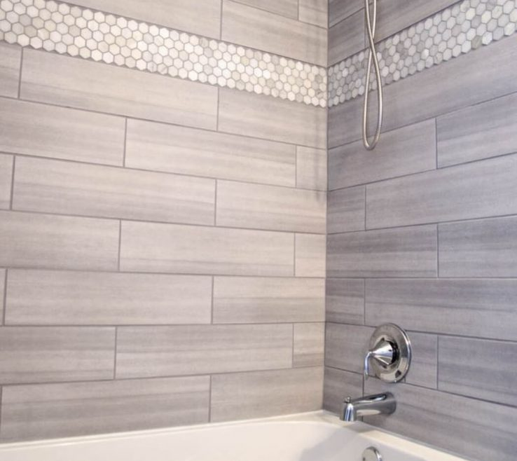 Endearing Bathroom Tile Designs Of Shower Ideas Lapland Pearl Two Tone