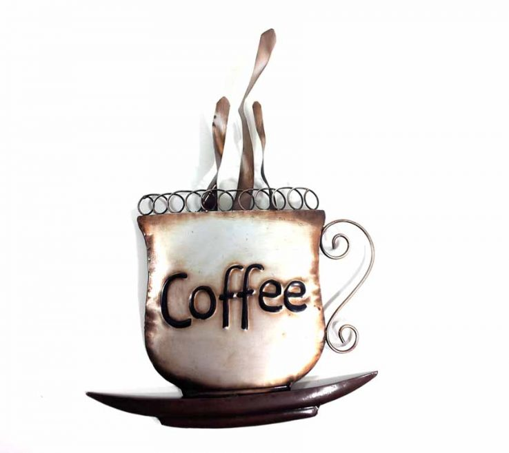 Endearing Coffee Themed Wall Decor Of Super Design Ideas Metal Art Modern Home