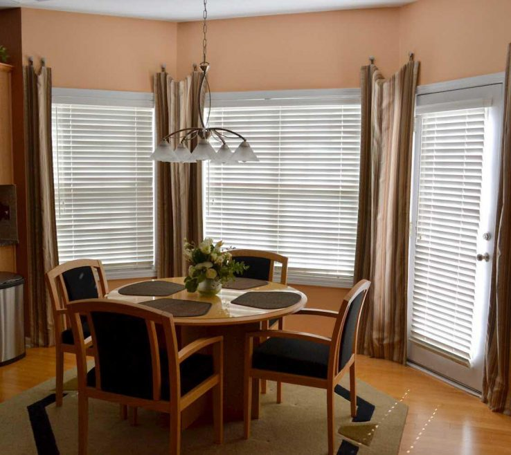 Endearing Dining Room Window Treatment Ideas Of Arched Treatments