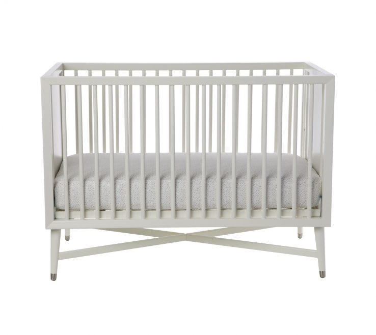 Endearing Mid Century Modern Baby Crib Of Free Mattress With Dwellstudio Mid Century In French