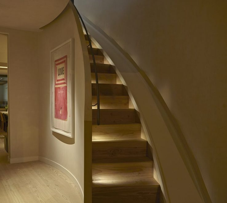 Endearing Modern Staircase Lighting Of Miniature In Stairs With Slide